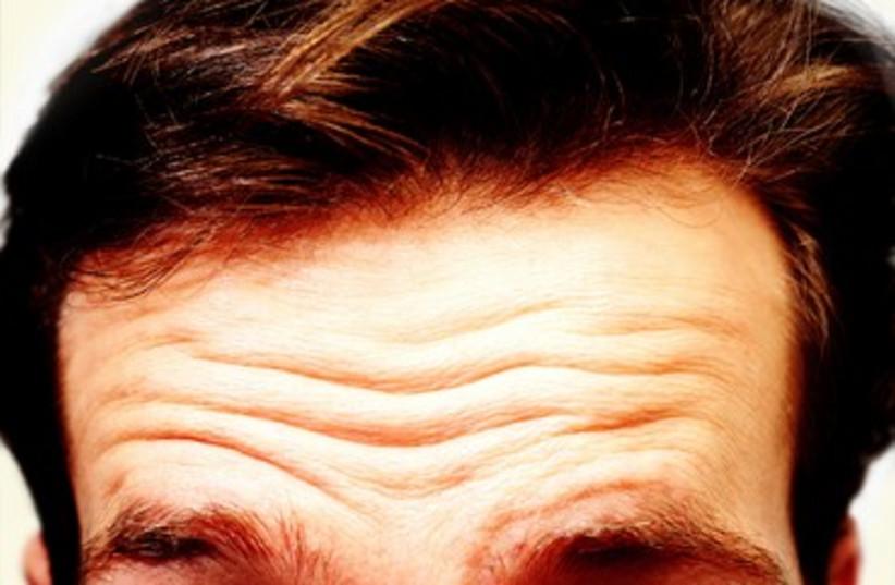 Wrinkles on forehead (photo credit: Thinkstock/Imagebank)