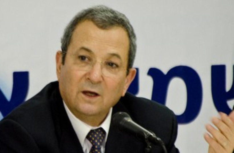 Ehud Barak at Independence press conference 370 (photo credit: Ricardo Mallaco)