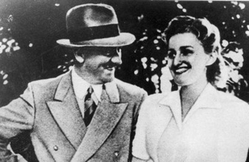 Eva Braun with Adolf Hitler 370 (photo credit: Jerusalem Post Archives)