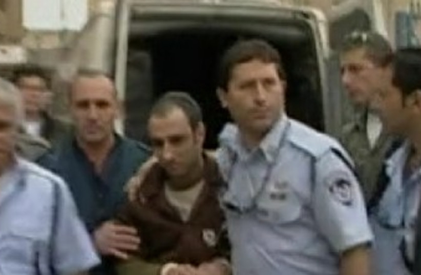 Hagai Amir is released from prison 370  (photo credit: Screenshot Channel Ten)
