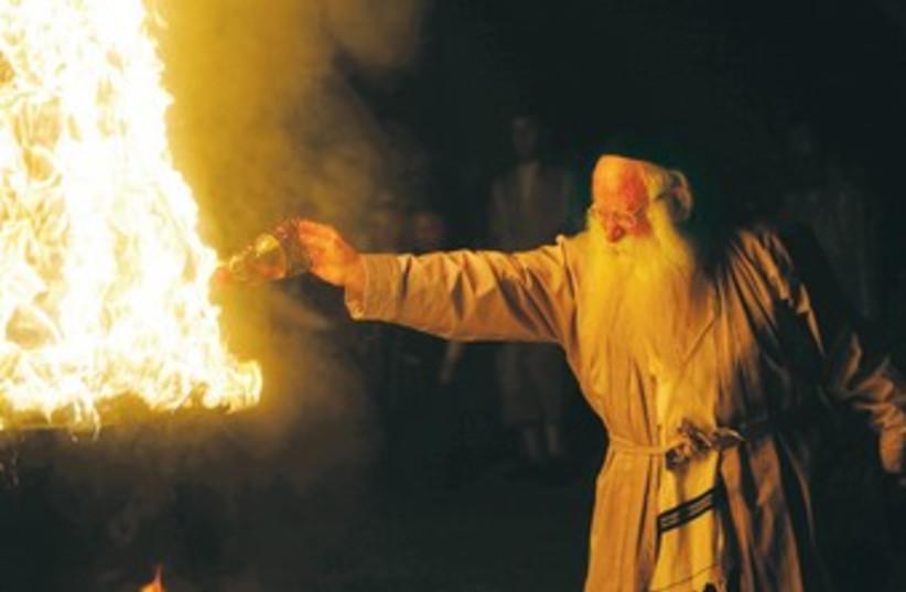 Lag Baomer bonfire (photo credit: Reuters)
