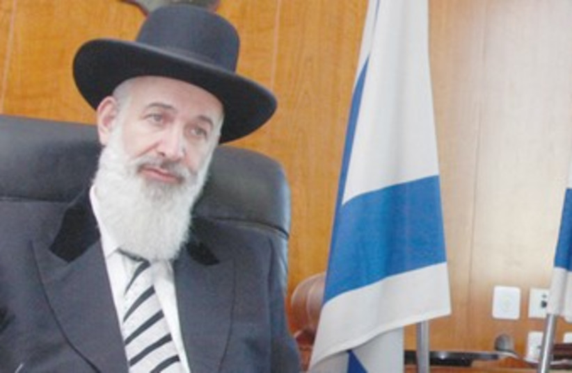 Rabbi Metzger (photo credit: Marc Israel Sellem/The Jerusalem Post)