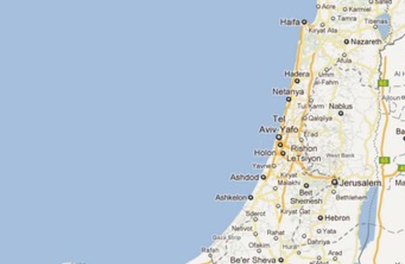 Map of Israel - Google Maps (photo credit: Courtesy of Google Maps)