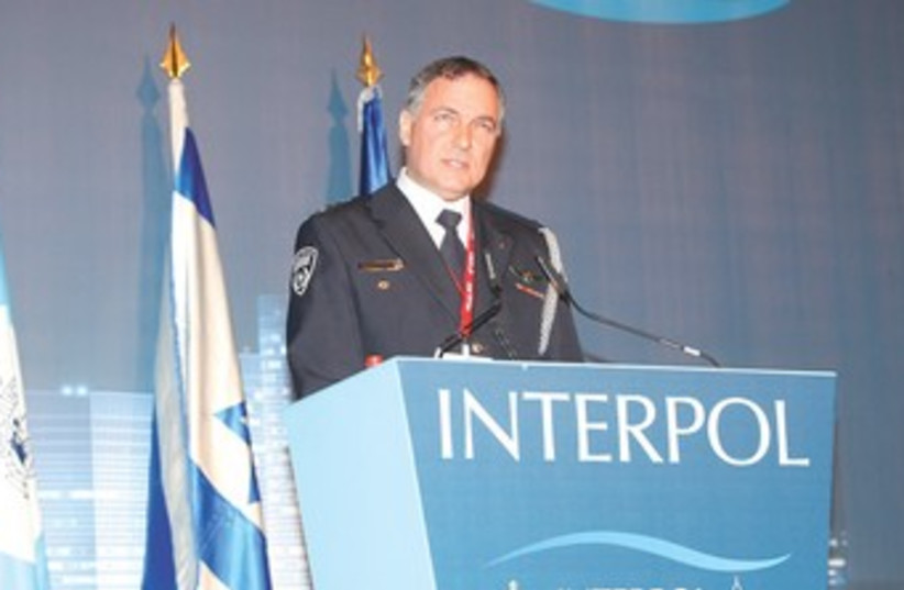 Police Insp.-Gen. Yohanan Danino at INTERPOL conference 370 (photo credit: Chen Galilee)