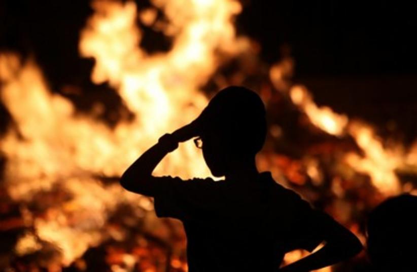 Lag Baomer bonfire 4 390  (photo credit: Marc Israel Sellem)