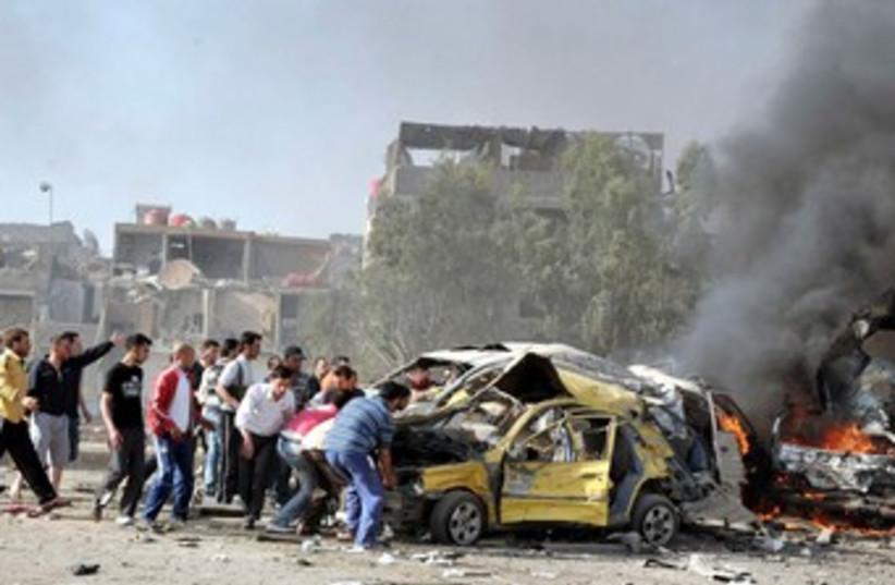 Damascus explosion 370 (photo credit: REUTERS)