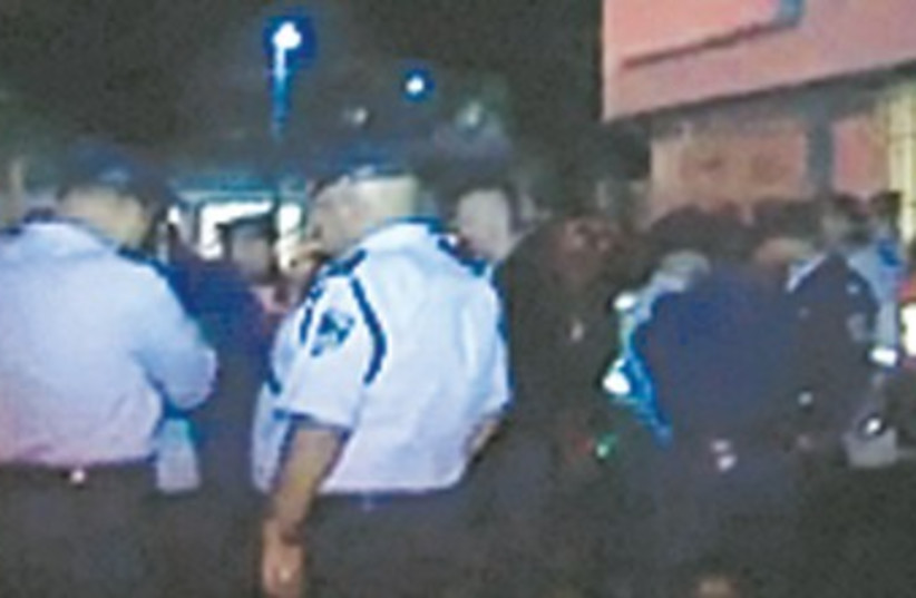 Police at scene of Shoshana Levi's murder 370 (photo credit: Channel 10)