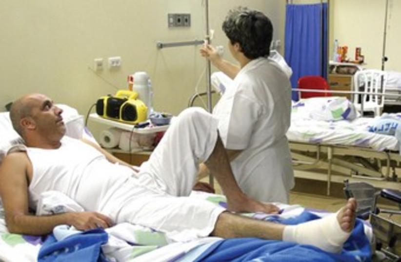 Hospital beds (photo credit: Ariel Jerozolimski)