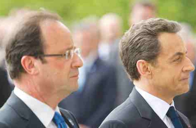 SarkozyHollande (photo credit: © Reuters)