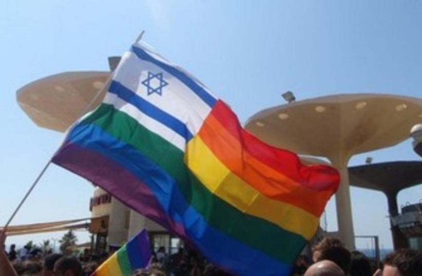 Gay pride flag 370 (photo credit: Yoni Cohen)