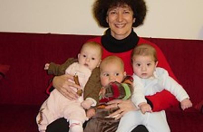 rachelle and babies (photo credit: )