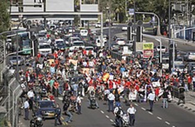 sderot ayalon protest 22 (photo credit: AP)