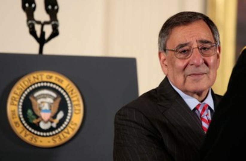 US Secretary of Defense Leon Panetta 370 (R) (photo credit: REUTERS/Larry Downing)
