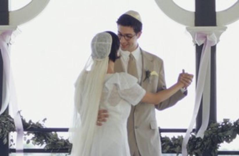 Generic Jewish wedding, couple dancing 370 (photo credit: Thinkstock)