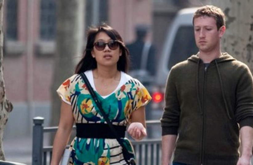 Zuckerberg and Chan 370 (photo credit: REUTERS)