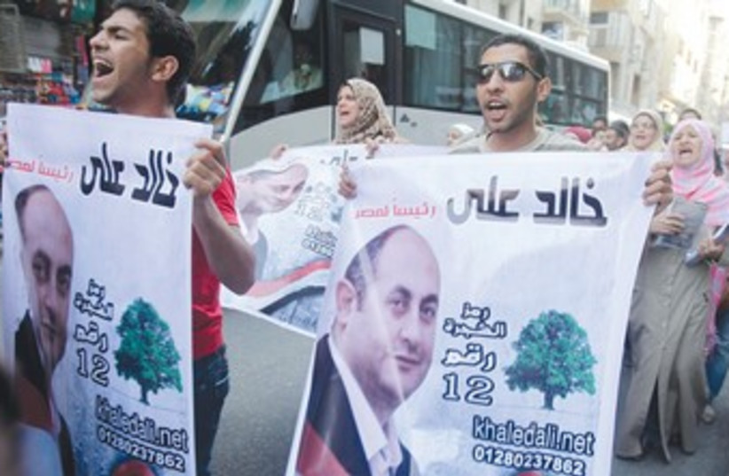 Election rallies (photo credit: Asmaa Waguih/Reuters)