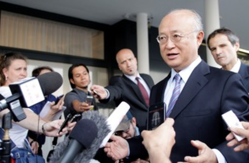 IAEA Director General Yukiya Amano 370 (photo credit: REUTERS/Leonhard Foeger )