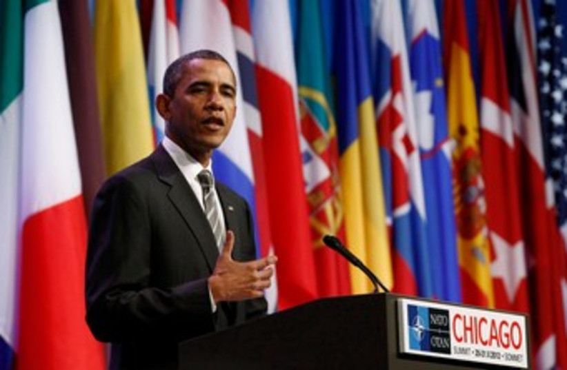 US President Barack Obama at NATO conference 370 (R) (photo credit: REUTERS/Jim Young)