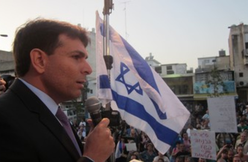 Danny Danon speaks at anti-infiltrator rally 370 (photo credit: Courtesy Spokesperson of Danny Danon)
