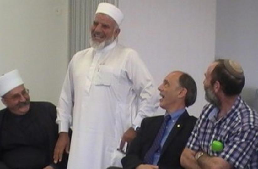 Religious leaders at Ma'aleh Gilboa yeshiva 370 (photo credit: Ross Singer)