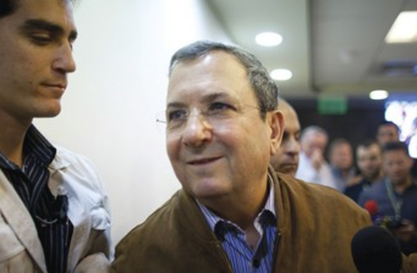 DEFENSE MINISTER Ehud Barak 370 (photo credit: REUTERS)