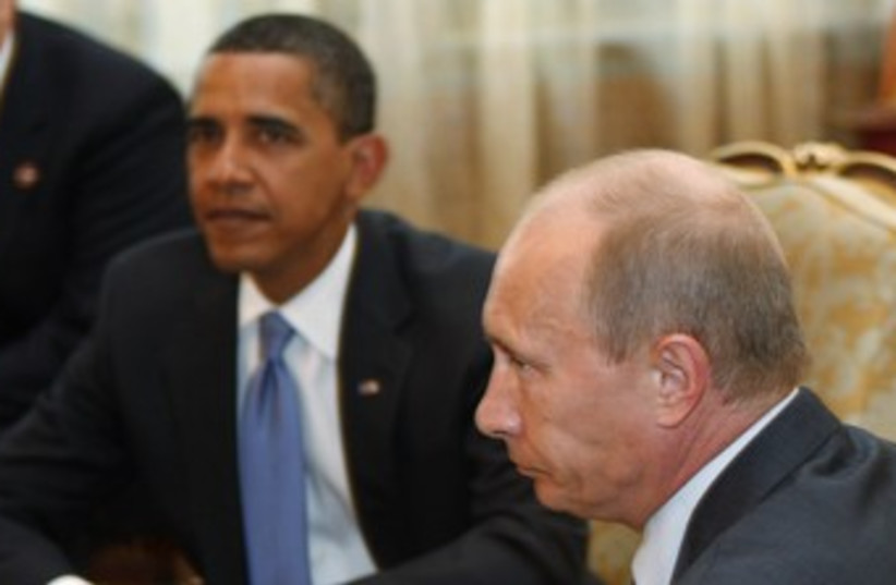 Obama meets Putin in Moscow 370 (photo credit: REUTERS)