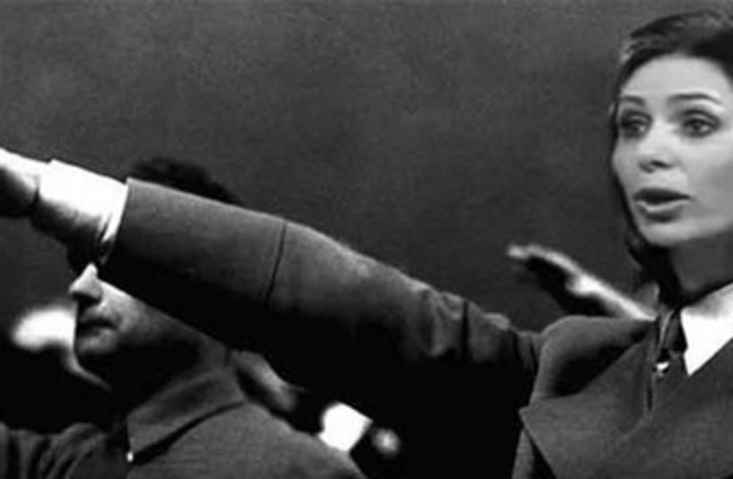 Miri Regev doing Nazi salute 370 (photo credit: Facebook)
