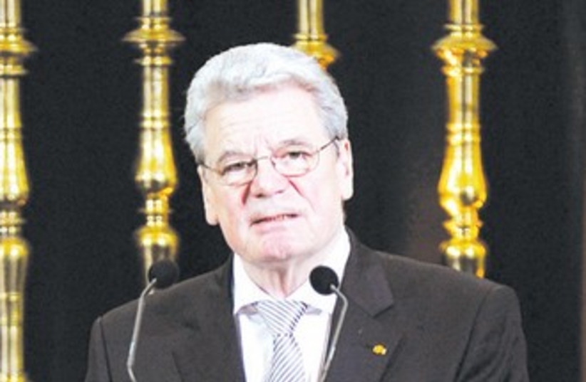 GERMAN PRESIDENT Joachim Gauck (photo credit: Reuters)
