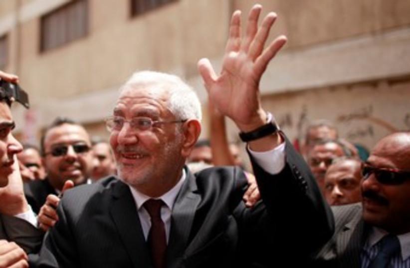 Egyptian candidate Abdel Moneim Abol Fotouh 390 (photo credit: REUTERS/Suhaib Salem )
