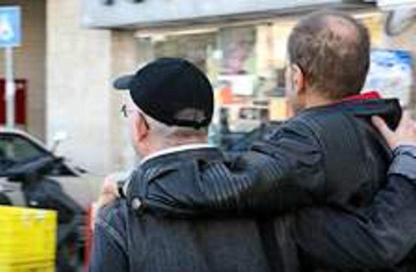 gay couple 224.88 (photo credit: Ariel Jerozolimski)