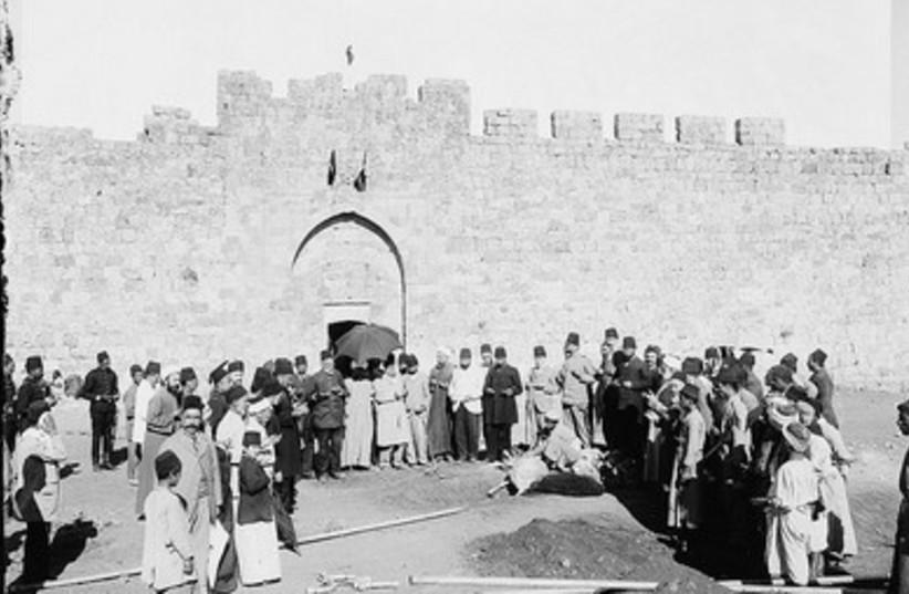 sacrifice ceremony outside of Herod's Gate