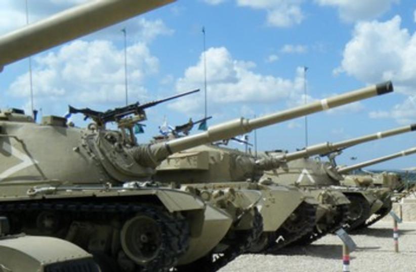 Tanks at Latrun (photo credit: Joe Yudin)