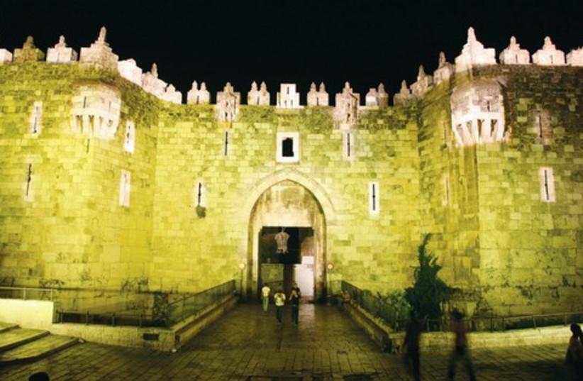 Jerusalem Light Festival, Damascus Gate  (photo credit: Courtesy)