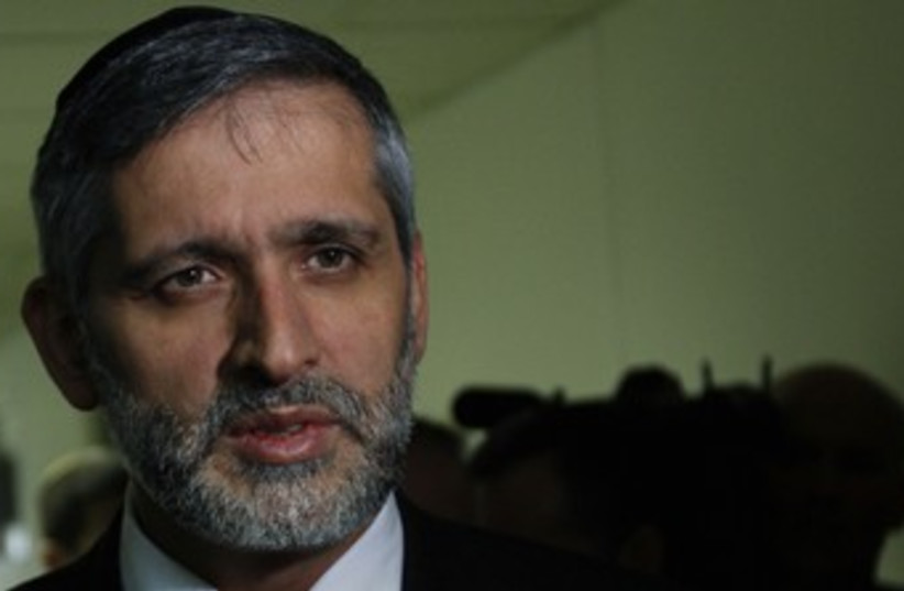 Eli Yishai 370 (photo credit: REUTERS/Ammar Awad)