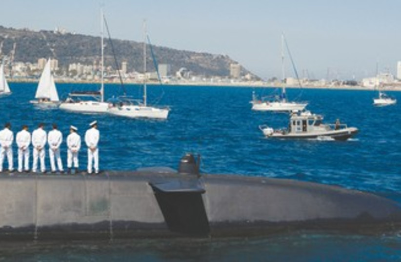 Dolphin-class submarine 370 (photo credit: Baz Ratner/Reuters)