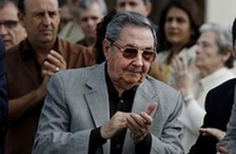 Raul Castro 248.88 (photo credit: AP)