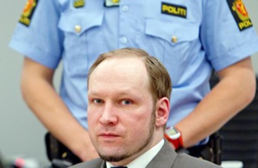 Breivik in court 370 (photo credit: REUTERS)