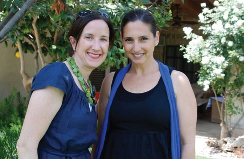 SHERRI GOLDSMITH (right) and Sarah Freund (photo credit: GLORIA DEUTSCH)