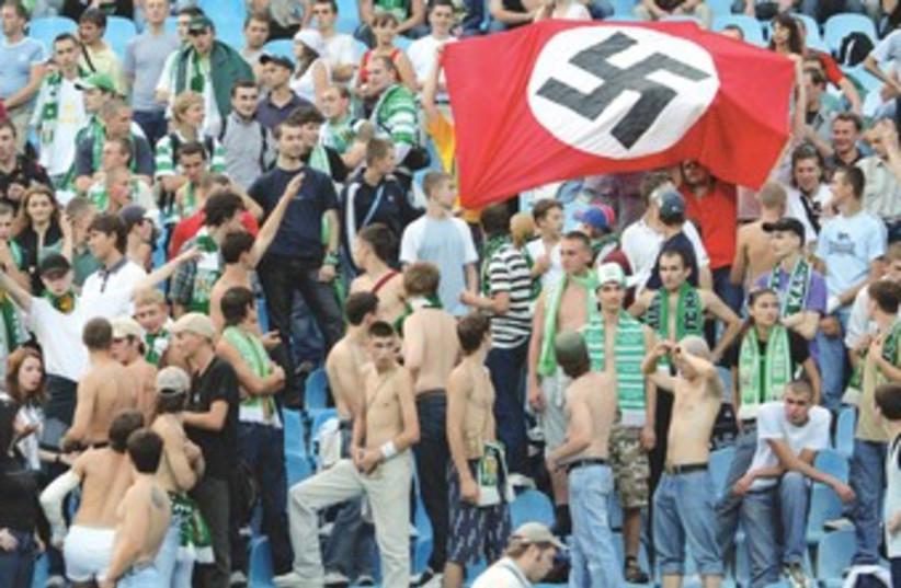 Neonazi rally (photo credit: REUTERS)
