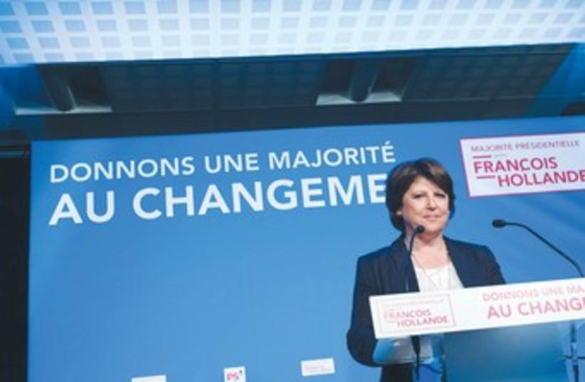 French Socialist Party leader Marine Aubrey 370 (photo credit: Julien Muguet/Reuters)