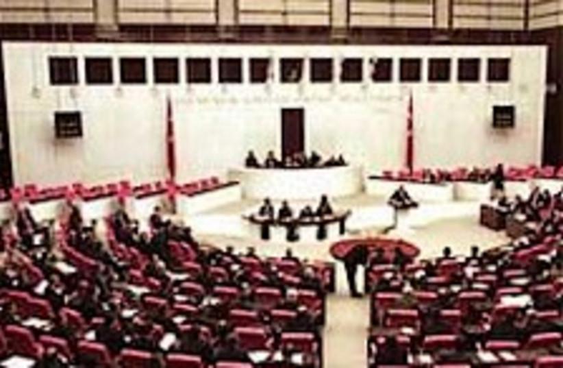 turkish parliament 224.8 (photo credit: AP)