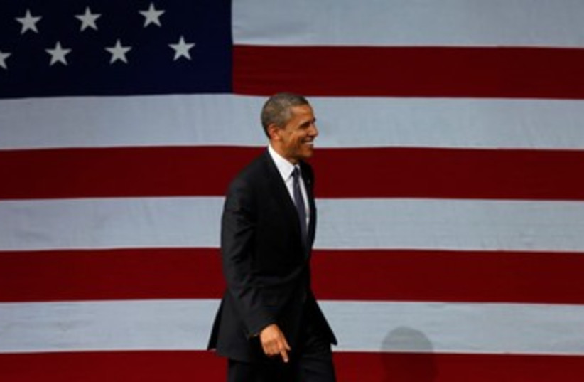 US President Barack Obama in NY 370 (photo credit: REUTERS/Larry Downing)