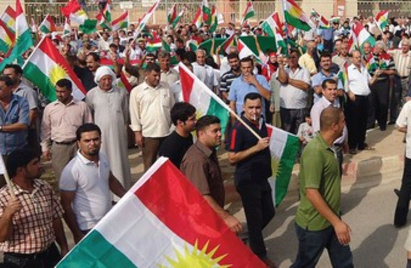 Kurdish nationalists 370 (photo credit: REUTERS)