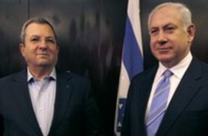 Prime Minister Netanyahu with Defense Minister Barak 300 (photo credit: Ammar Awad / Reuters)