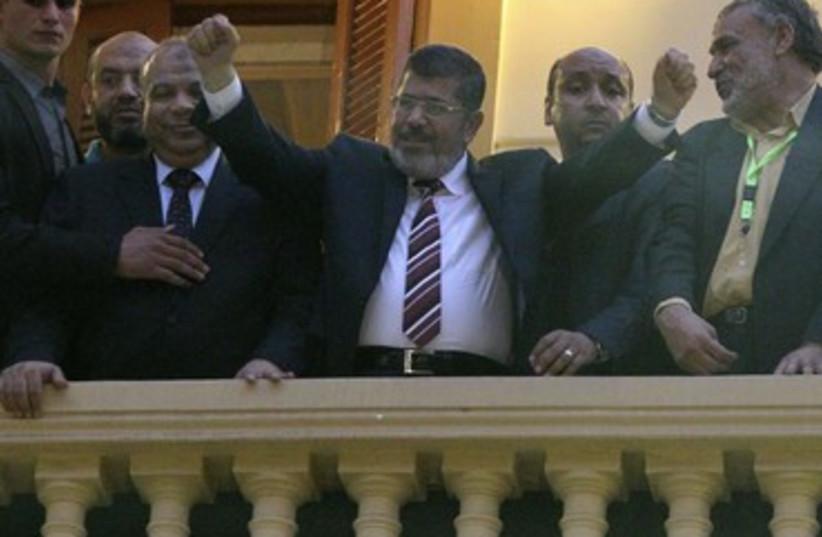 Muslim Brotherhood's presidential candidate Mohamed Morsy 37 (photo credit: Suhaib Salem / Reuters)