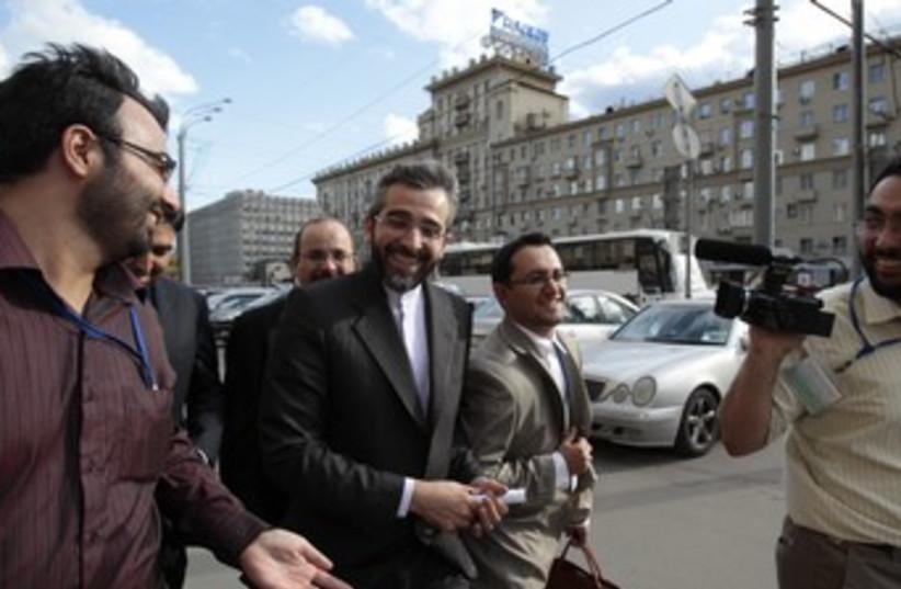 Iranian nuclear negotiator Ali Bagheri in Moscow 370 (photo credit: REUTERS/Sergei Karpukhin)