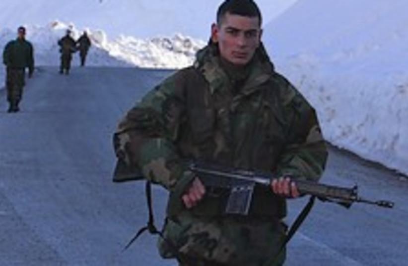Turkish soldier Iraq fab (photo credit: AP)