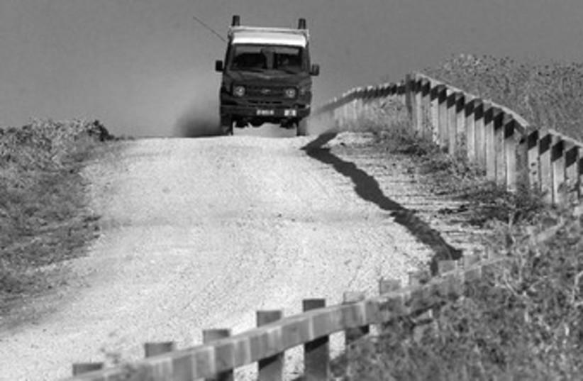 Patrol near Jenin (photo credit: REUTERS)