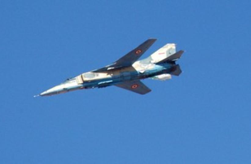 Syrian military plane 370 (photo credit: REUTERS/Sana Sana)