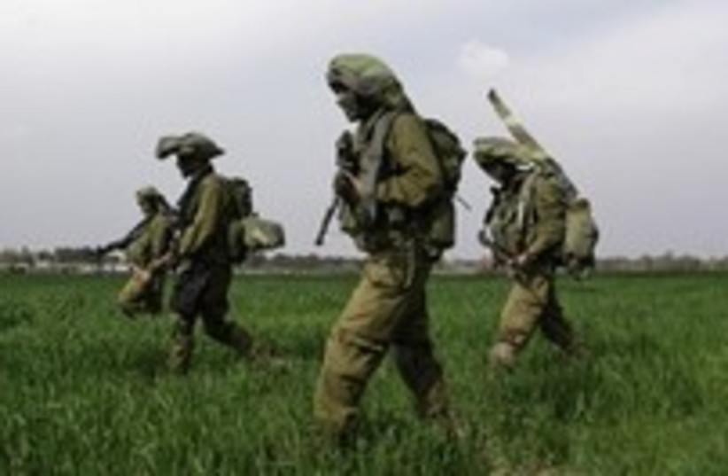 soldiers gaza cool 224  (photo credit: AP)